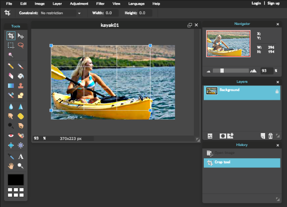How To Resize An Image Using Pixlr Moduet