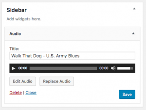 Update WordPress Audio Widget