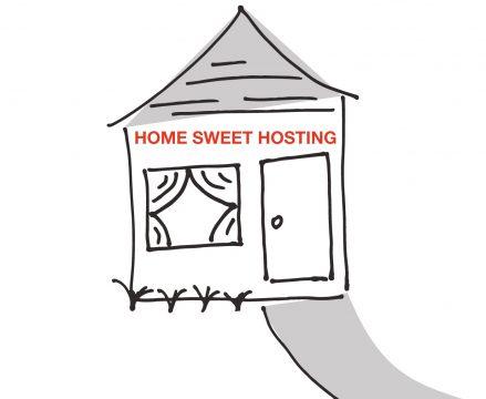 Website hosting domain registration
