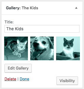 WordPress Gallery Widget