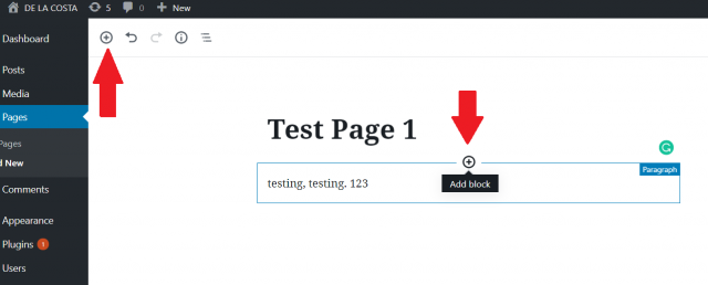 WordPress block 1