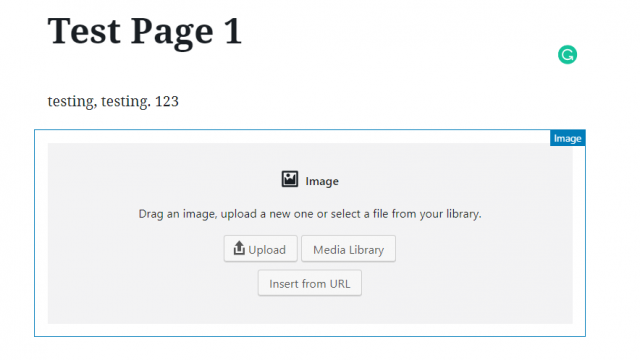 WordPress Blocks image block