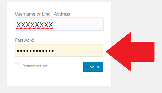 login with password