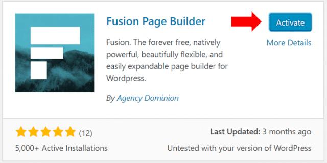activate fusion plugin
